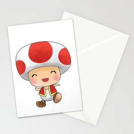 Red mushroom Plumber's collection Stationery Cards
