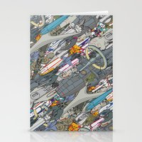 battlestar Stationery Cards featuring Battlestar by Guy Warley