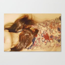 The Mermaid Studies Canvas Print