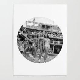 Vintage Swimsuit Models Poster