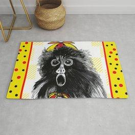 Surprise Monkey Rug