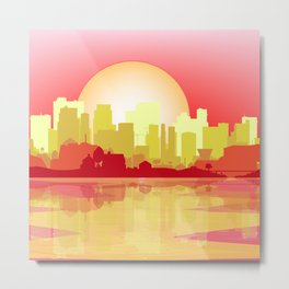 City At The Dusk Metal Print