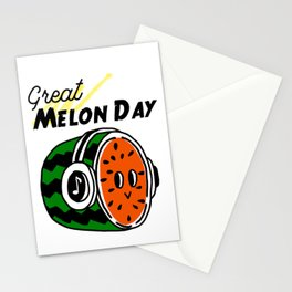 It's a great melon day melody! Stationery Cards