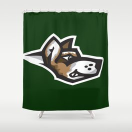 Fighting Corgis Logo Shower Curtain