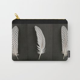 Silver Pheasant Feathers Carry-All Pouch