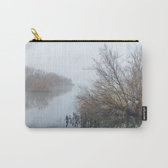 Magic Foggy Morning At The Lake Carry-All Pouch