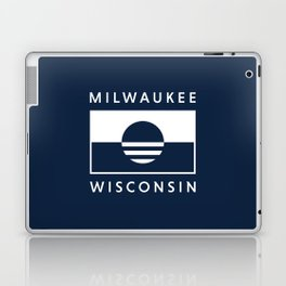 Milwaukee Wisconsin - Navy - People's Flag of Milwaukee Laptop & iPad Skin