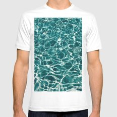 Blue Water Mens Fitted Tee MEDIUM White