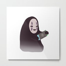 Cute no face  Metal Print