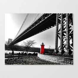 The Little Red Lighthouse - George Washington Bridge NYC Canvas Print