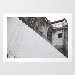diagonal fence Art Print