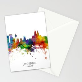 Liverpool England Skyline Stationery Cards