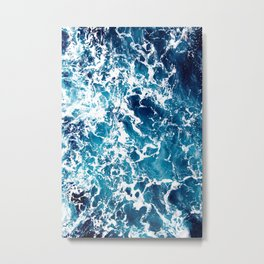Wild Ocean Waves, Ocean Water Metal Print