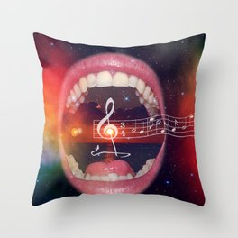 Sing it out loud Throw Pillow