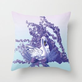 graceful swan Throw Pillow