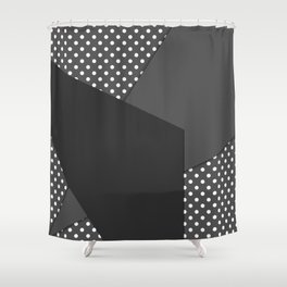 Grey abstract abstract Shower Curtain