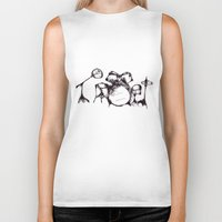 drums Biker Tanks featuring Drums by Jake Stanton