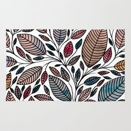 Leaf Illustration Rug