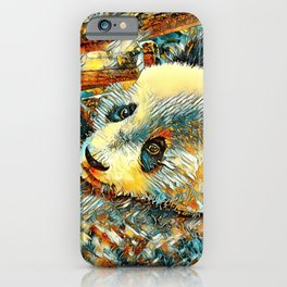 AnimalArt_Panda_20180102_by_JAMColors iPhone Case