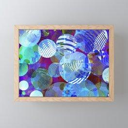 Violet Paper Lanterns Framed Mini Art Print