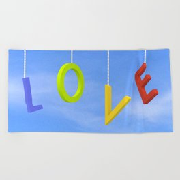 Love Is In The Air Beach Towel