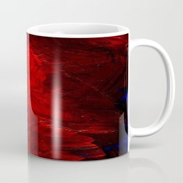 Red Abstract Paint Coffee Mug