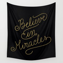 Miracles Gold Wall Tapestry