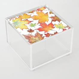 Autumn Maple Leaves Acrylic Box