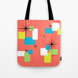 Living Coral Retro Inspired Tote Bag