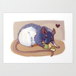 Hungry hungry ratty Art Print