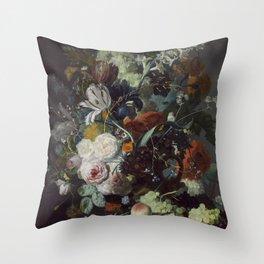 Jan van Huysum Still Life with Flowers and Fruit Throw Pillow