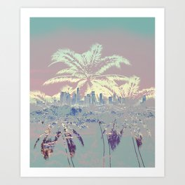 Palm Trees over L.A. Art Print
