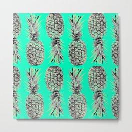 Ananas Anas Pineapple Metal Print