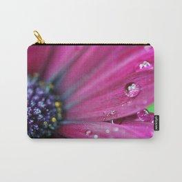Purple Osteospermum Macro Carry-All Pouch