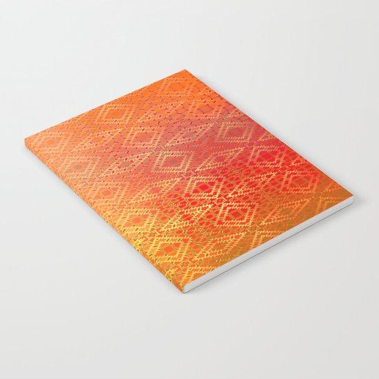 Diamonds Going On Forever (orange) Notebook