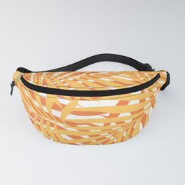 Summer Tropical Palm Leaves Pattern, Yellow, Orange Fanny Pack