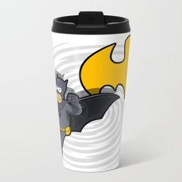 bat-homer in action: the Simpsons superheroes Metal Travel Mug
