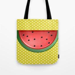 Watermelon and Polka Dots Tote Bag