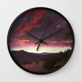 Twilight in the Wilderness by Frederic Edwin Church (1860) Wall Clock