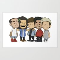 1d Art Prints featuring Schulz 1D by Ashley R. Guillory