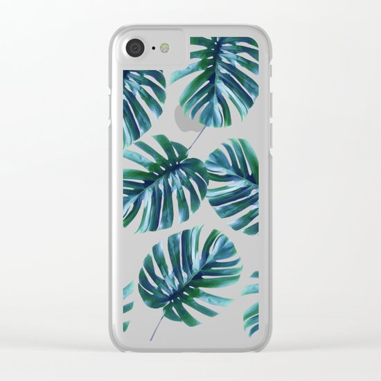 Monstera Pattern #society6 #decor #buyart Clear iPhone Case
