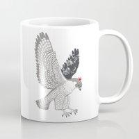 hawk Mugs featuring hawk by talltree