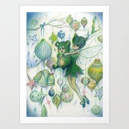 Merry Beary Art Print