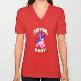 Ponytail Pony Unisex V-Neck