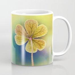 Heart-shaped Clover like Oxalis Macro. St Patrick's Day Coffee Mug