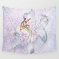 lily Wall Tapestries featuring Lily by Lynn Bolt