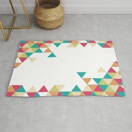 Artsy Summer Triangle Pattern Rug