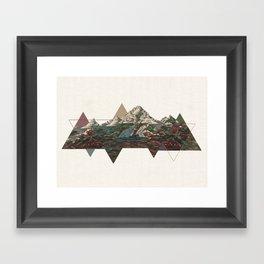 This mountain light Framed Art Print