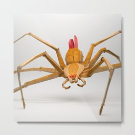 The Paper Fox : Spider Metal Print