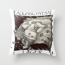 GMDs Laughing Hyena Lager Throw Pillow